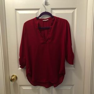 Red work blouse
